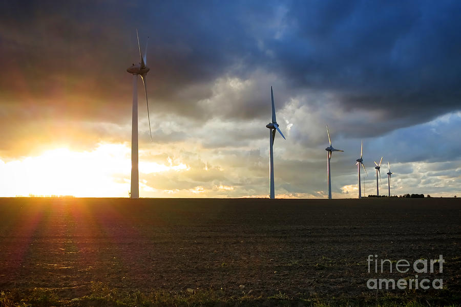Windmill Photograph - Wind And Sun by Olivier Le Queinec