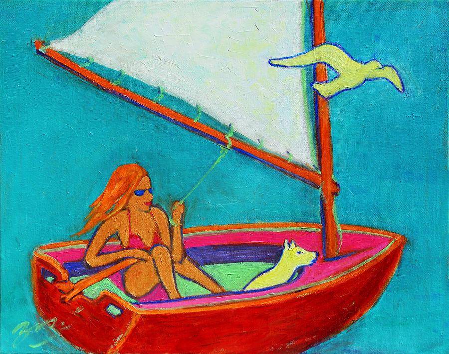 Pop Art Painting - Wind Beneath My Wings I by Xueling Zou