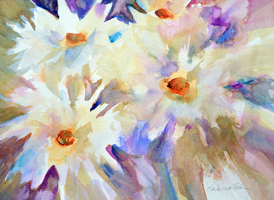 Flowers Painting - Wind Dancers by Filomena Booth