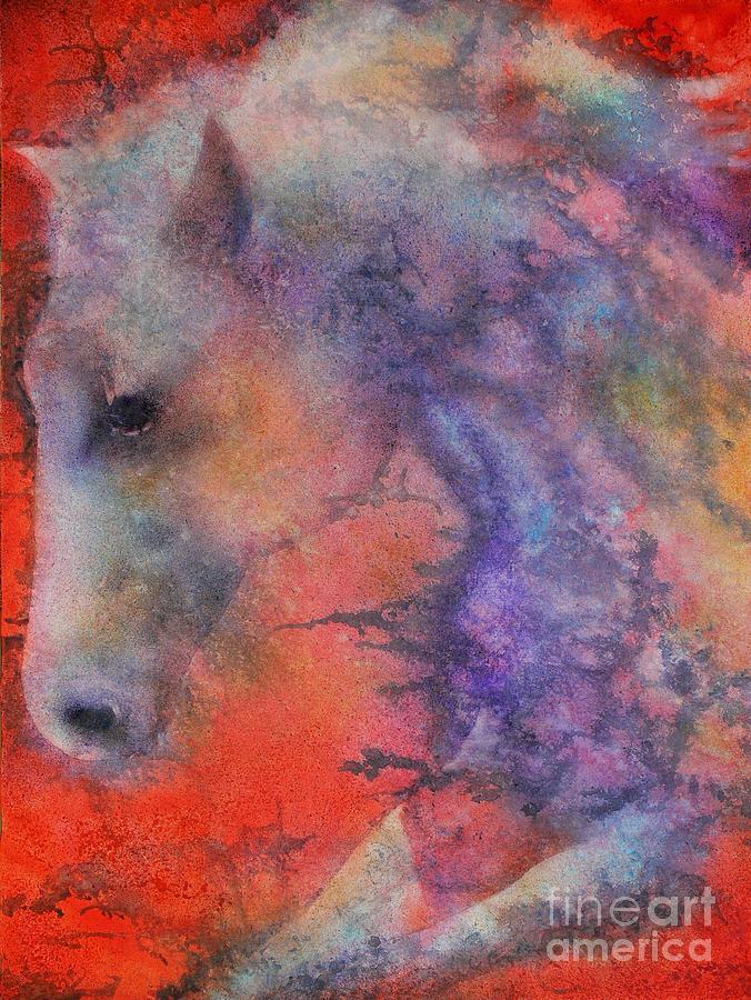 Watercolor Painting - Wind Horse by Robert Hooper