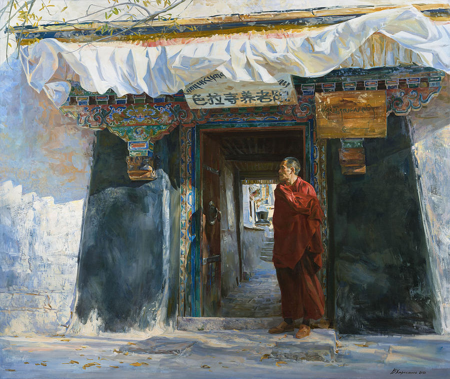 Wind In The Sera Monastery Painting