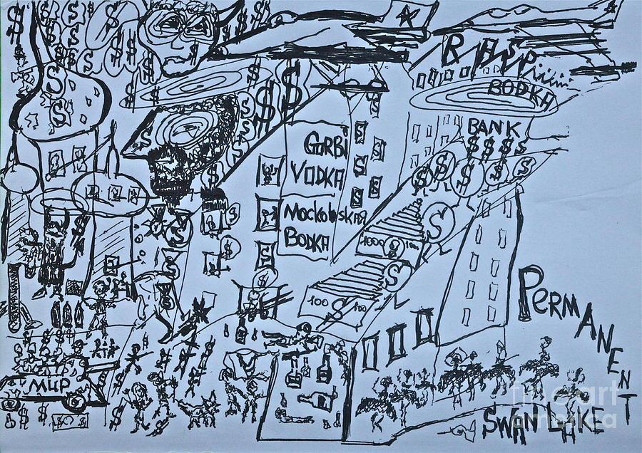 Drawings Drawing - Wind Of Change 2014. Poezja I Sztuka Jest Wspolnym Jezykiem Swiata  by  Andrzej Goszcz