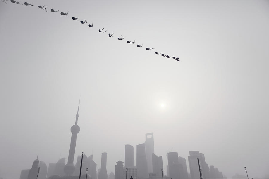 Wind Of Shanghai Photograph by Blackstation
