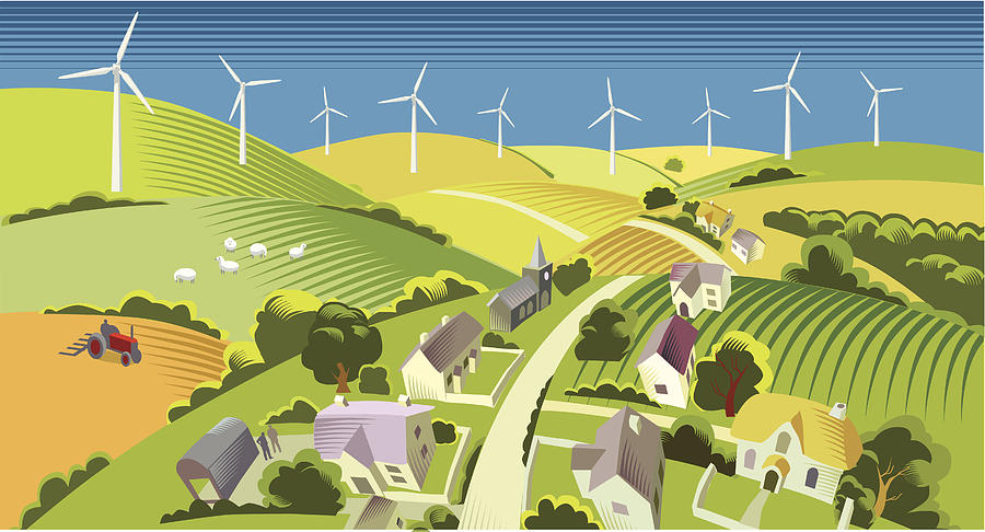 Wind Power Drawing by Smartboy10