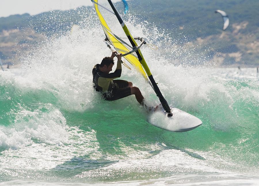 Wind Surfing In The Ocean Tarifa Photograph