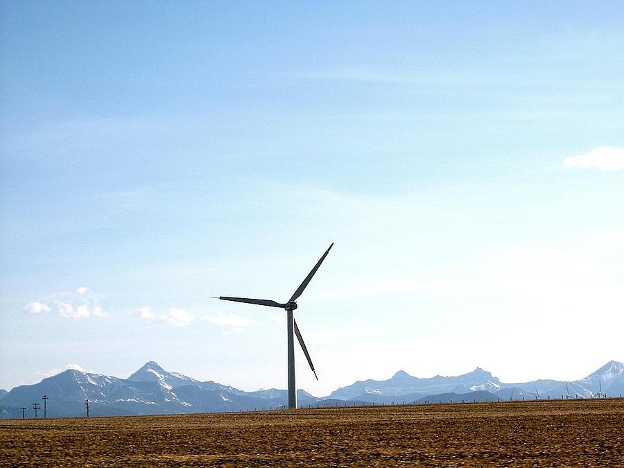 Wind Turbine Photograph - Wind Turbine by Mavis Reid Nugent