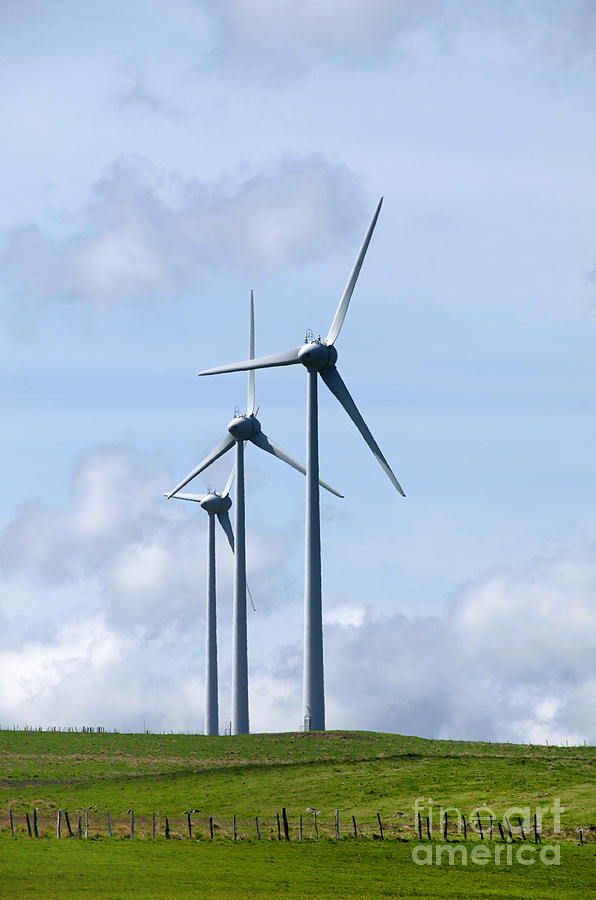 Wind Photograph - Wind Turbines by Bernard Jaubert