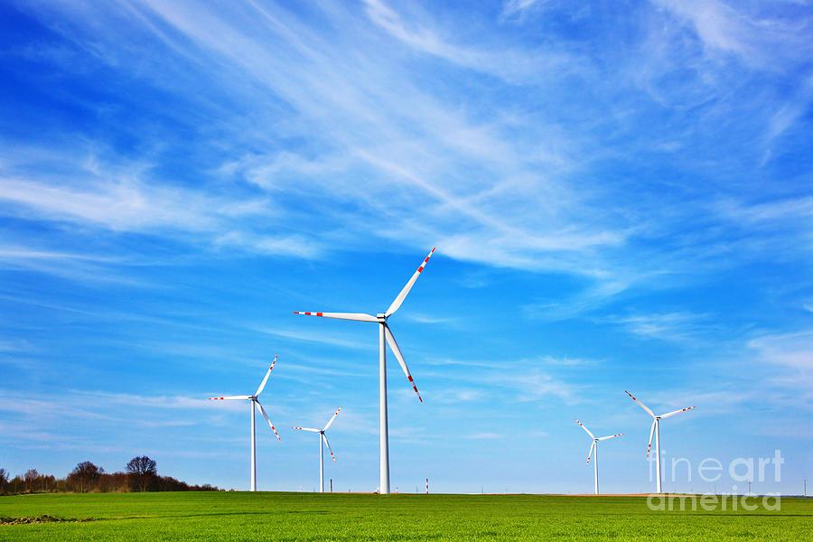 Power Photograph - Wind Turbines Farm by Michal Bednarek