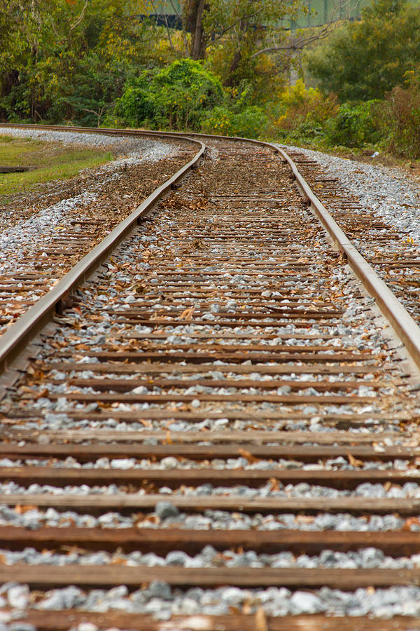 Trains Photograph - Winding Rails by Heather Roper