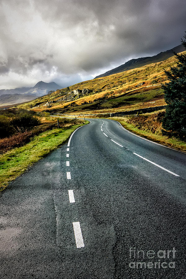 Snowdonia Photograph - Winding Road by Adrian Evans