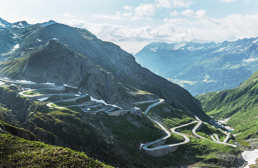 Winding Road In The Mountains Photograph by Buena Vista Images