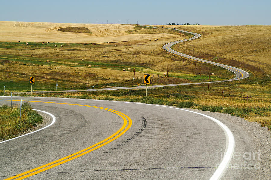 Montana Photograph - Winding Road by Sue Smith