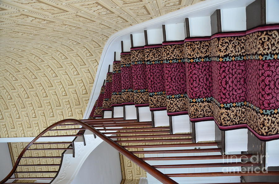 Winding Photograph - Winding Staircase by Kathleen Struckle