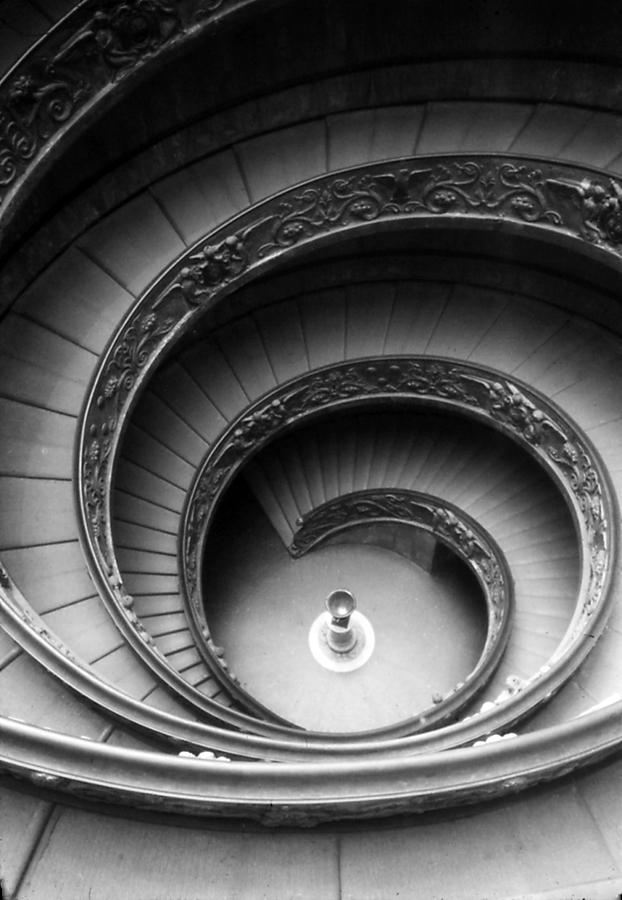 Stairway Photograph - Winding Stairway by Thomas D McManus