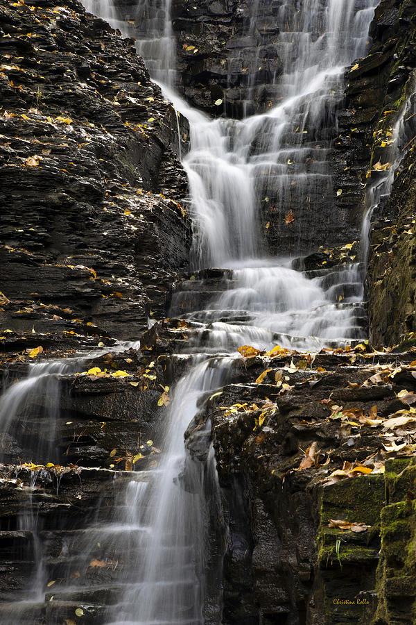 Winding Photograph - Winding Waterfall by Christina Rollo