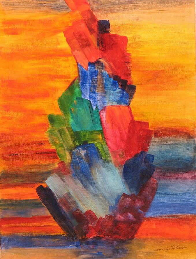 Crystals Painting - Windjammer by Jennifer Hillman