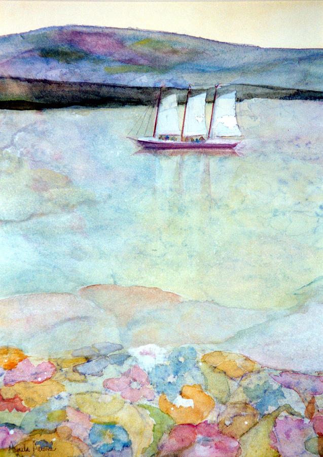 Windjammer Painting - Windjammer by Pamela Parsons
