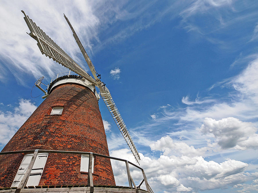 Windmill Photograph - Windmill In The Sky by Gill Billington