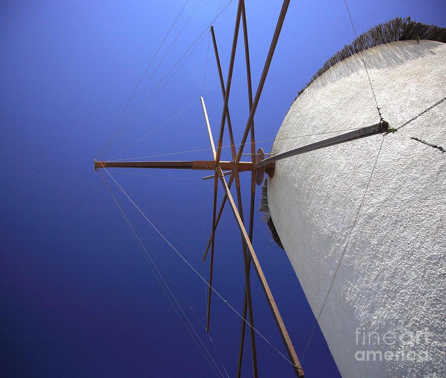 Aegean Photograph - Windmill masts by Deborah Benbrook
