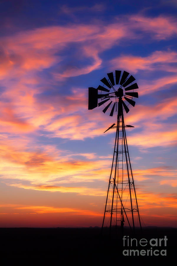 windmill silhouette 1 photograph by jim mccain