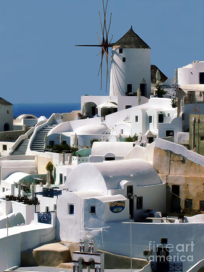 Oia Photograph - Windmill by Sophie Vigneault