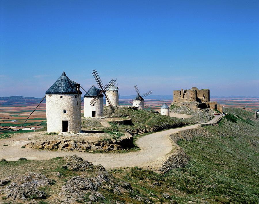 Windmills At La Mancha, Spain Photograph by Adina Tovy