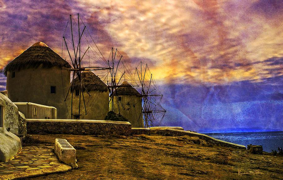 Windmills Photograph - Windmills In Mykonos by Madeline Ellis