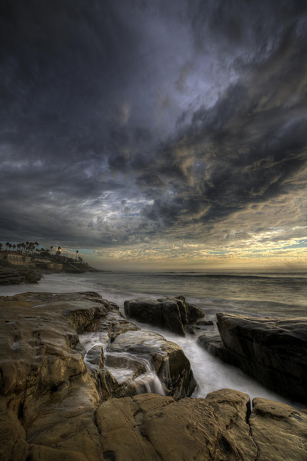 Clouds Photograph - Windnsea Light Found by Peter Tellone