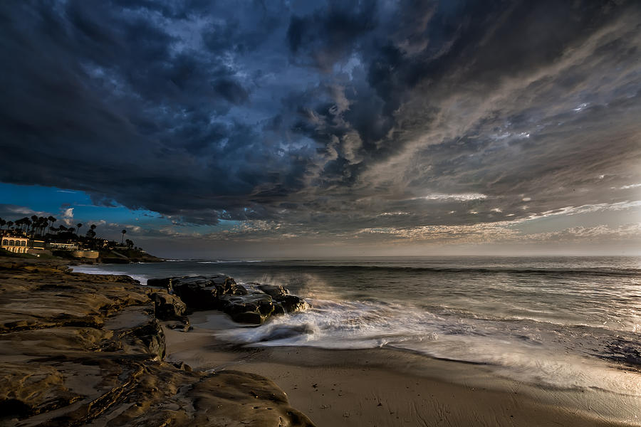 Clouds Photograph - Windnsea Stormy by Peter Tellone