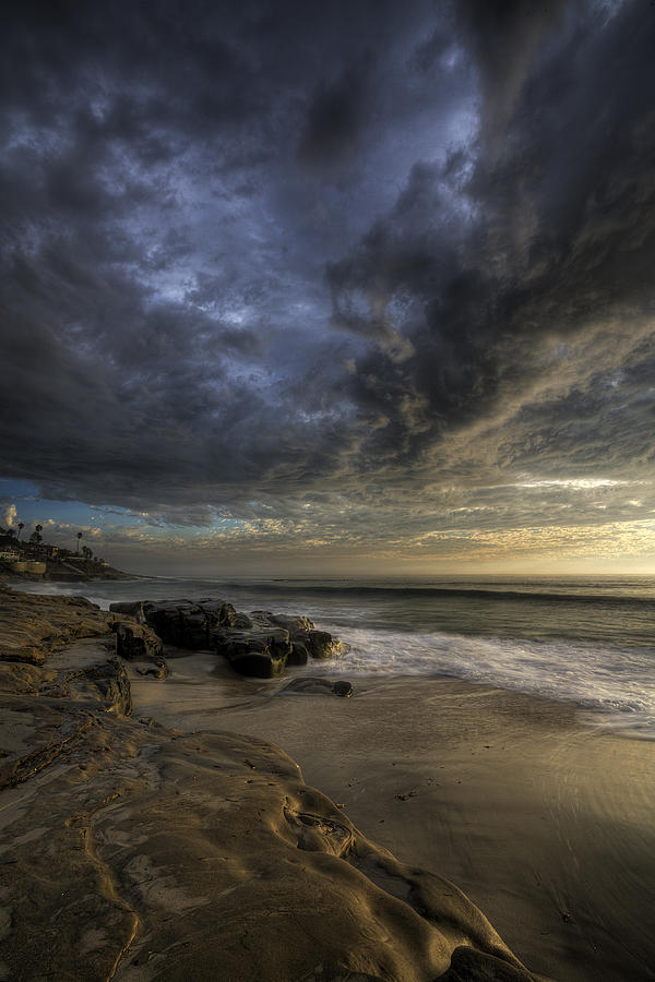 Clouds Photograph - Windnsea Stormy Sky by Peter Tellone