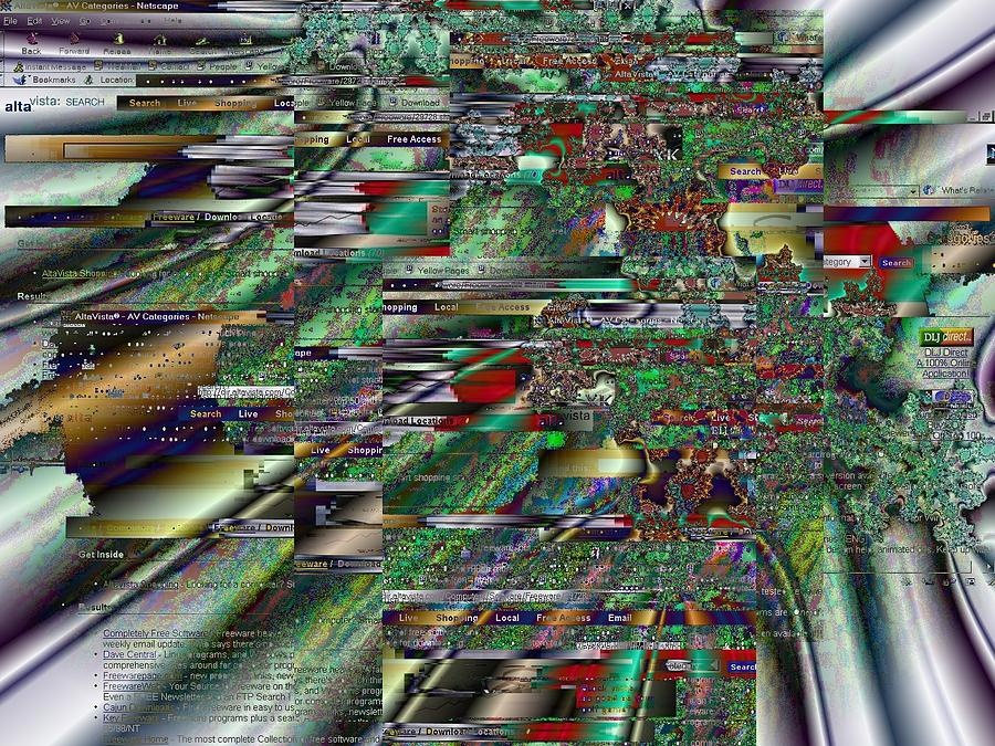 Netart Digital Art - Window 105 by Teo Spiller