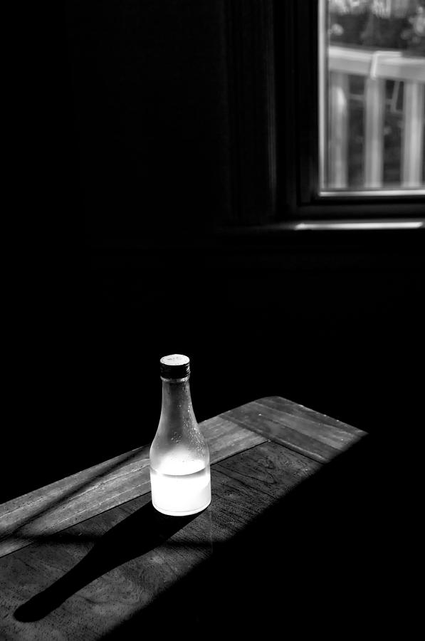 Oil Photograph - Window And Bottle by Guillermo Hakim