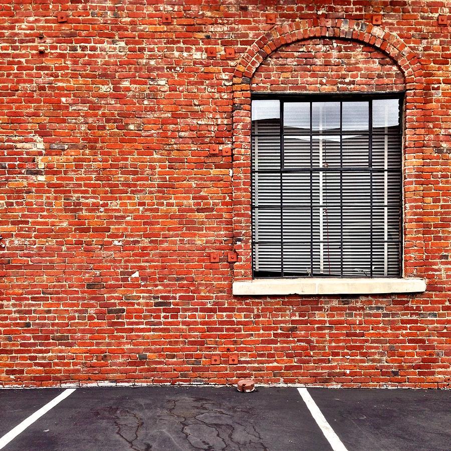 Window Photograph - Window and Brick by Julie Gebhardt