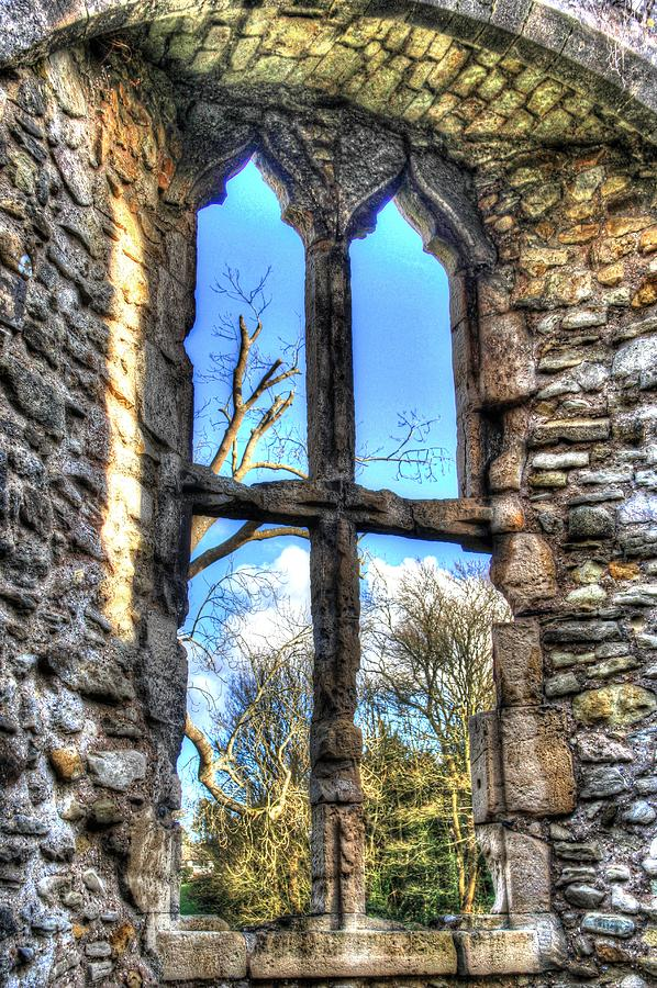 Window Photograph - Window at Netley Abbey by Peggy Berger
