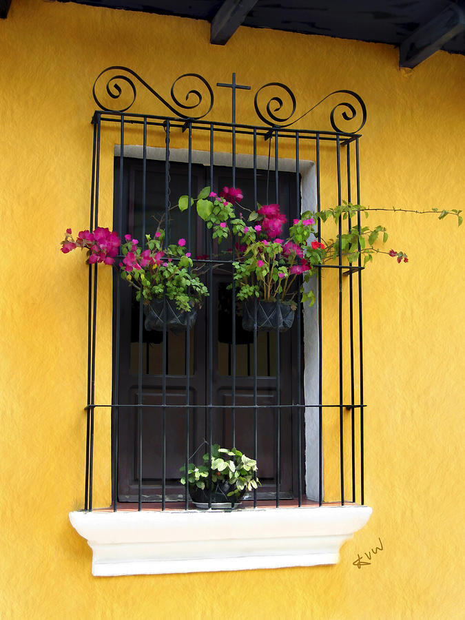 Window Photograph - Window At Old Antigua by Kurt Van Wagner