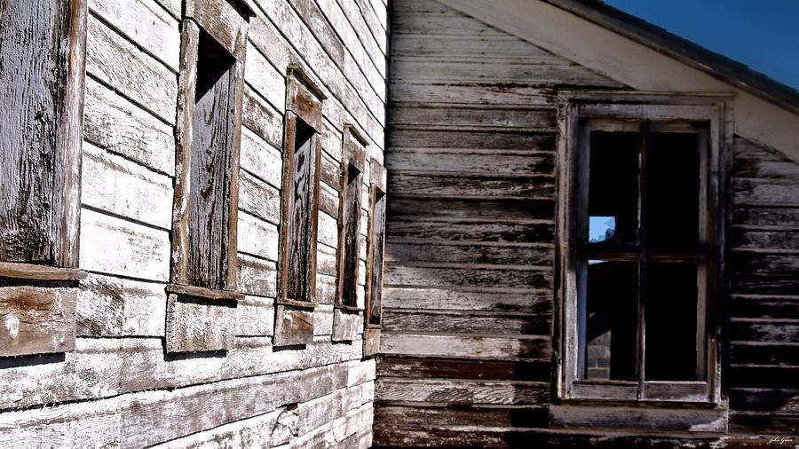 Barn Photograph - Window Chalk by John Grace