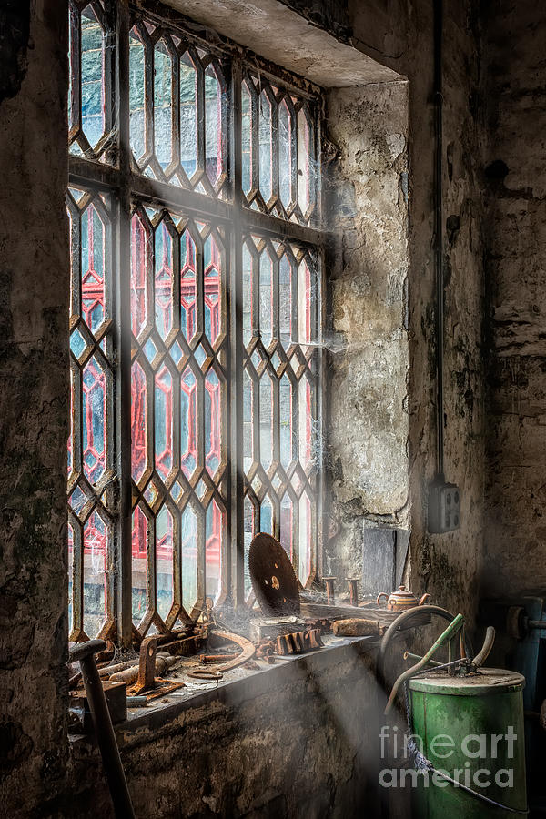 British Photograph - Window Decay by Adrian Evans