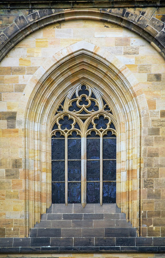 Window Detail On The 14th Century Photograph by Perry Mastrovito / Design Pics