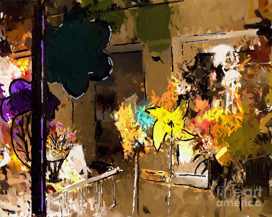 Abstract Digital Art - Window Dressing As Still Life by Arne Hansen