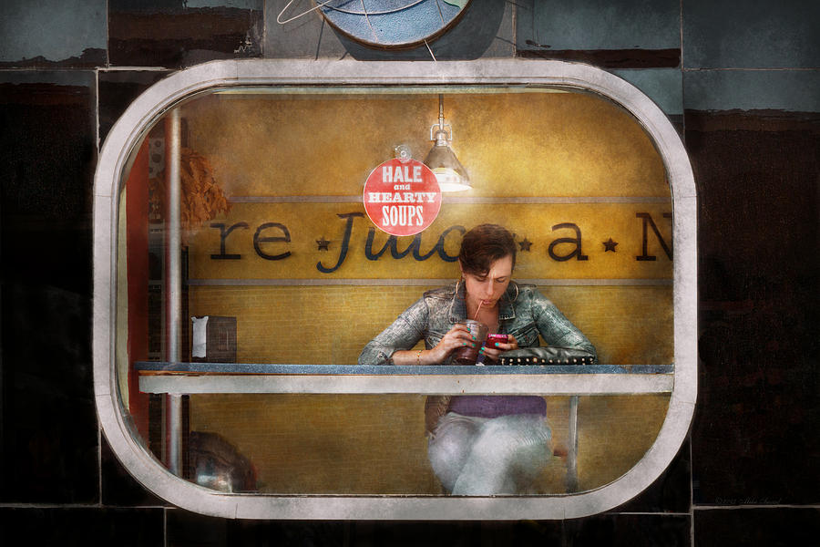 Savad Photograph - Window - Hoboken Nj - Hale And Hearty Soups  by Mike Savad
