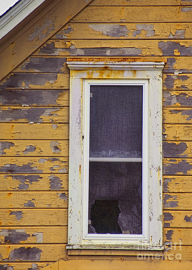 Broken Photograph - Window In Abandoned House by Jill Battaglia