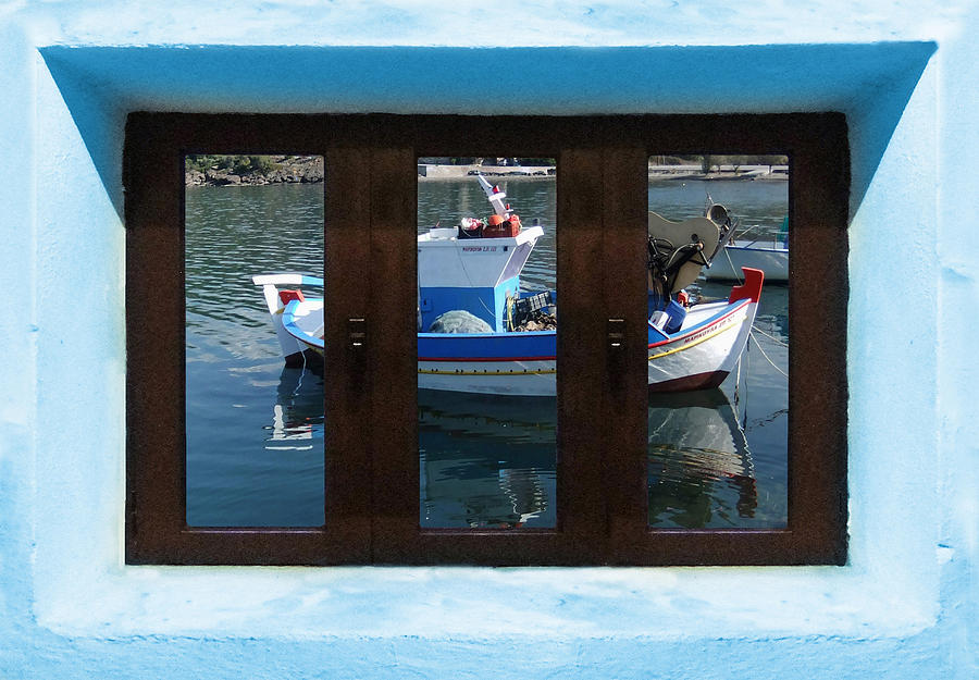Beautiful Greece Photograph - Window Into Greece 7 by Eric Kempson