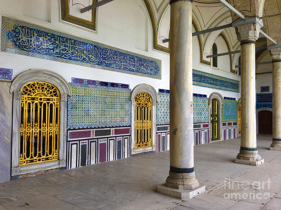 Turkey Photograph - Window Of The Chamber Of The Holy Mantle In The Topkapi Palace Istanbul Turkey by PIXELS  XPOSED Ralph A Ledergerber Photography