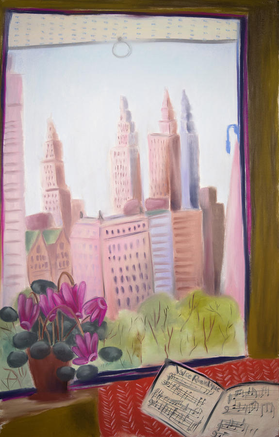 Window On Central Park South Painting by Tatjana Krizmanic