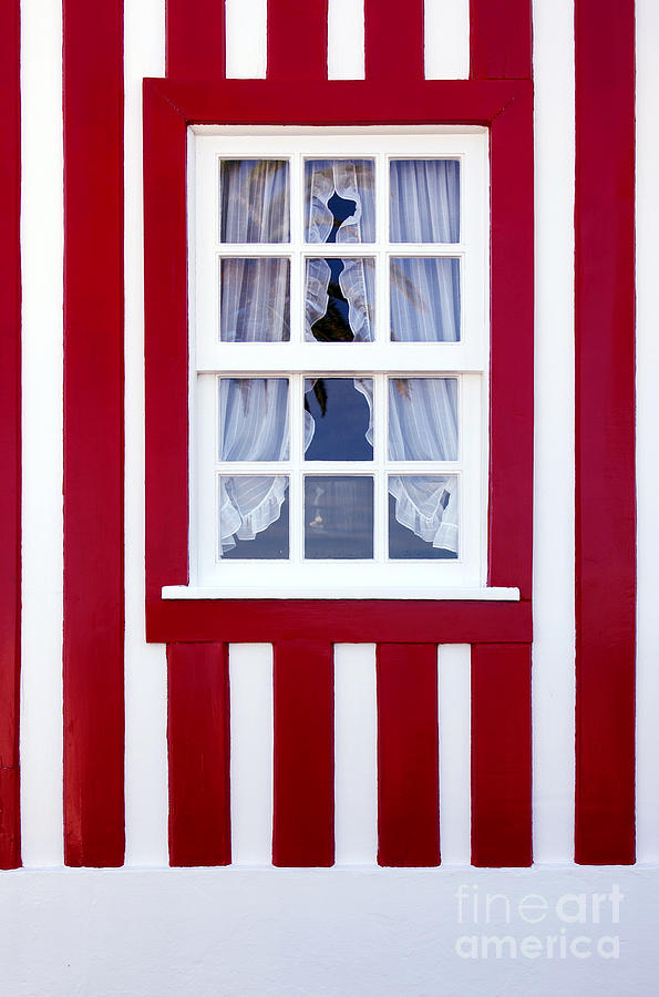 Architecture Photograph - Window On Stripes by Carlos Caetano