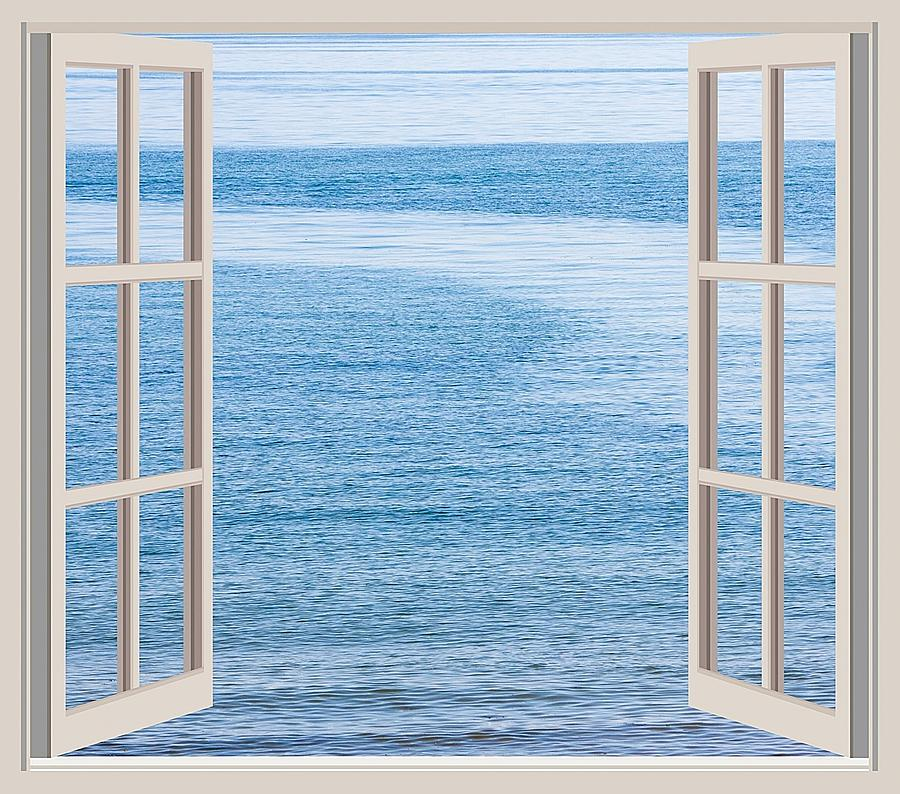 Nature Photograph - Window On The Sea by John Vito Figorito