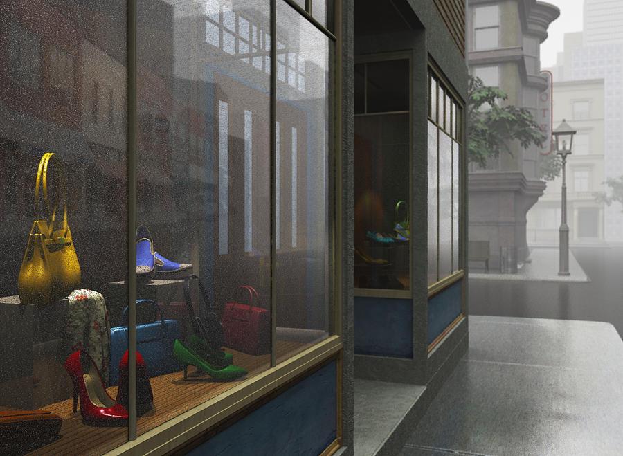 Window Shopping Digital Art by Cynthia Decker