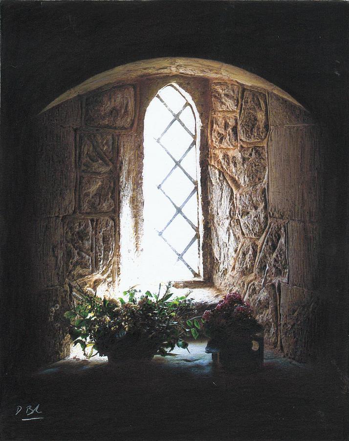 Interior Drawing - Window Solitude by Darren Baker