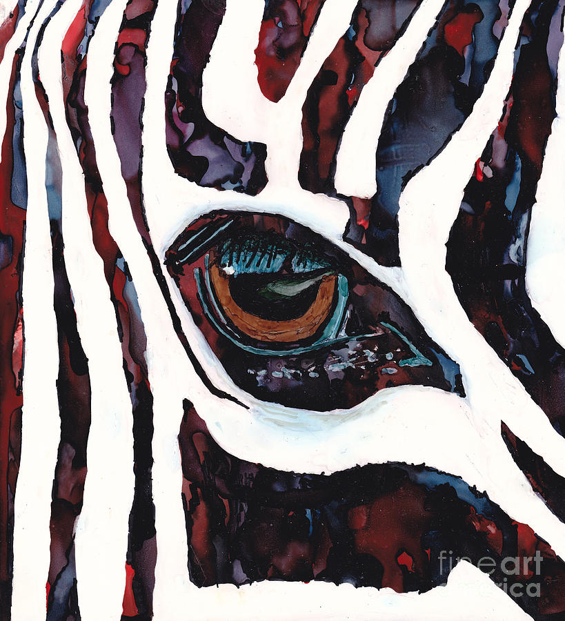Zebra Painting - Window To The Soul by Diane Marcotte