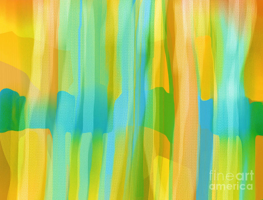 Abstract Painting - Window To The South by Hilda Lechuga